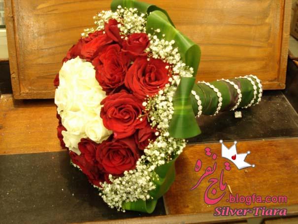 بیست مدل دسته گل عروس با گل رز قرمز