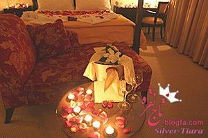 تزئین اتاق عروس و داماد با شمع و چراغ