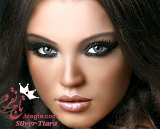 بیست مدل ارایش زیبا با پن کیک و رژگونه برنز و لنز رنگی و موی بلوند