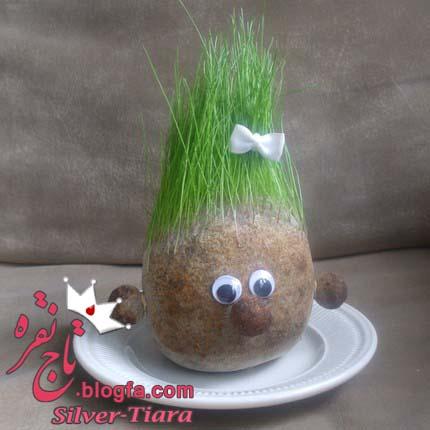 اموزش درست کردن و کاشت سبزه مدل ادمک بامزه سبزه به سر